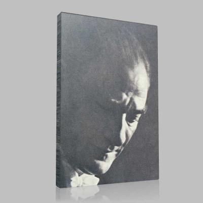 Siyah Beyaz Atatürk Resimleri  413 Kanvas Tablo