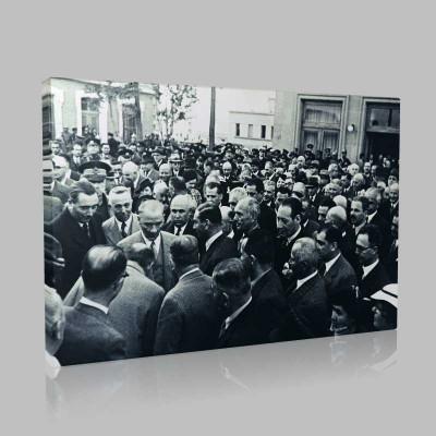 Siyah Beyaz Atatürk Resimleri  416 Kanvas Tablo