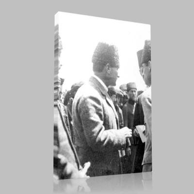Siyah Beyaz Atatürk Resimleri  425 Kanvas Tablo