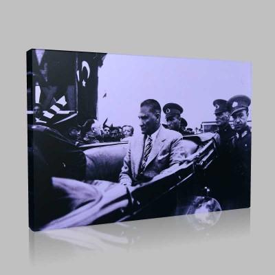 Siyah Beyaz Atatürk Resimleri  427 Kanvas Tablo