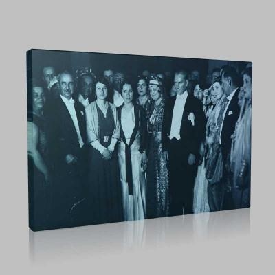 Siyah Beyaz Atatürk Resimleri  431 Kanvas Tablo