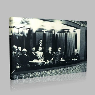 Siyah Beyaz Atatürk Resimleri  433 Kanvas Tablo