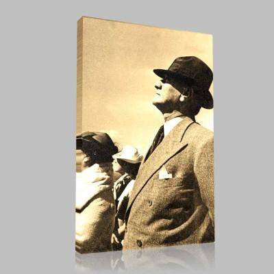 Siyah Beyaz Atatürk Resimleri  436 Kanvas Tablo