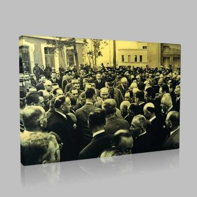 Siyah Beyaz Atatürk Resimleri  437 Kanvas Tablo