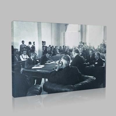 Siyah Beyaz Atatürk Resimleri  440 Kanvas Tablo