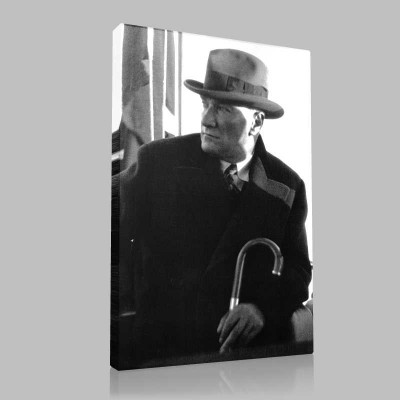 Siyah Beyaz Atatürk Resimleri  443 Kanvas Tablo
