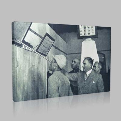 Siyah Beyaz Atatürk Resimleri  447 Kanvas Tablo