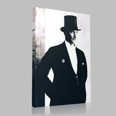 Siyah Beyaz Atatürk Resimleri  45 Kanvas Tablo