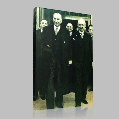 Siyah Beyaz Atatürk Resimleri  451 Kanvas Tablo