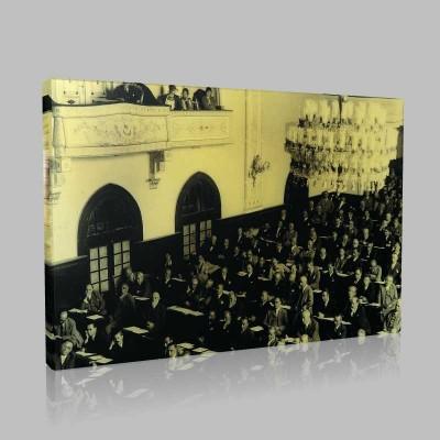 Siyah Beyaz Atatürk Resimleri  454 Kanvas Tablo