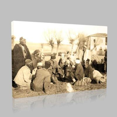 Siyah Beyaz Atatürk Resimleri  457 Kanvas Tablo