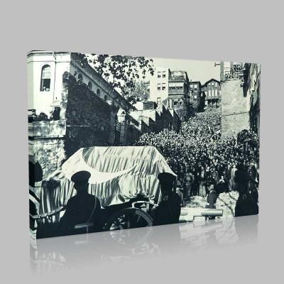 Siyah Beyaz Atatürk Resimleri  459 Kanvas Tablo