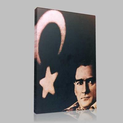 Siyah Beyaz Atatürk Resimleri  46 Kanvas Tablo