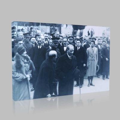 Siyah Beyaz Atatürk Resimleri  461 Kanvas Tablo