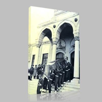Siyah Beyaz Atatürk Resimleri  462 Kanvas Tablo