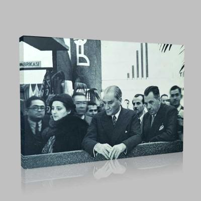 Siyah Beyaz Atatürk Resimleri  465 Kanvas Tablo