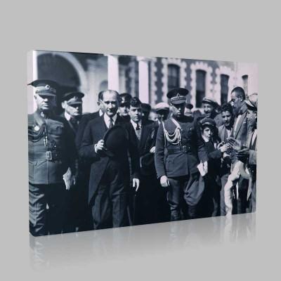 Siyah Beyaz Atatürk Resimleri  467 Kanvas Tablo