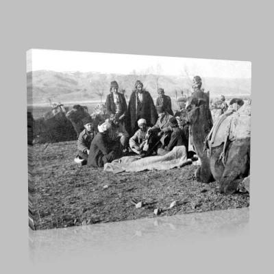 Siyah Beyaz Atatürk Resimleri  469 Kanvas Tablo