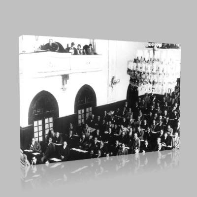 Siyah Beyaz Atatürk Resimleri  475 Kanvas Tablo