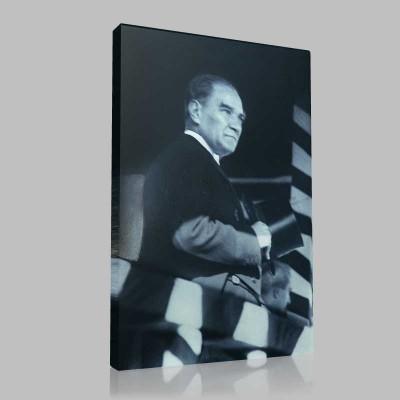 Siyah Beyaz Atatürk Resimleri  476 Kanvas Tablo