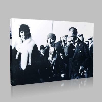 Siyah Beyaz Atatürk Resimleri  477 Kanvas Tablo