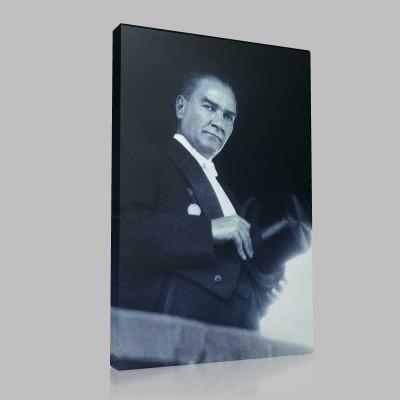 Siyah Beyaz Atatürk Resimleri  479 Kanvas Tablo