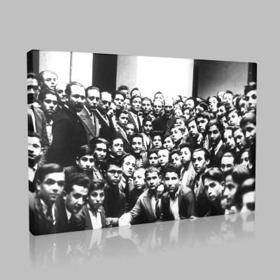 Siyah Beyaz Atatürk Resimleri  480 Kanvas Tablo