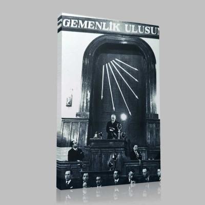 Siyah Beyaz Atatürk Resimleri  481 Kanvas Tablo