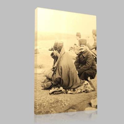 Siyah Beyaz Atatürk Resimleri  485 Kanvas Tablo