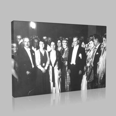 Siyah Beyaz Atatürk Resimleri  489 Kanvas Tablo