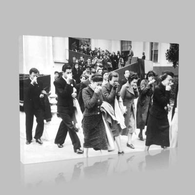 Siyah Beyaz Atatürk Resimleri  491 Kanvas Tablo