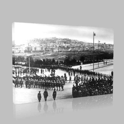 Siyah Beyaz Atatürk Resimleri  494 Kanvas Tablo