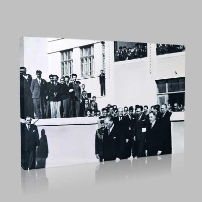 Siyah Beyaz Atatürk Resimleri  495 Kanvas Tablo