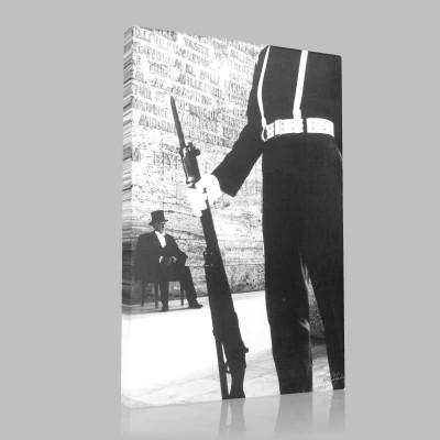 Siyah Beyaz Atatürk Resimleri  497 Kanvas Tablo