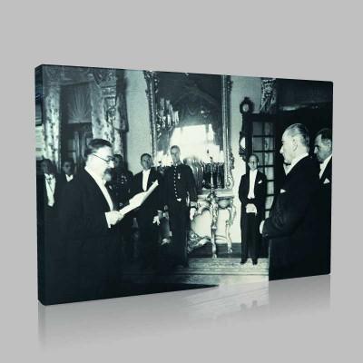 Siyah Beyaz Atatürk Resimleri  499 Kanvas Tablo