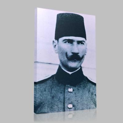 Siyah Beyaz Atatürk Resimleri  5 Kanvas Tablo