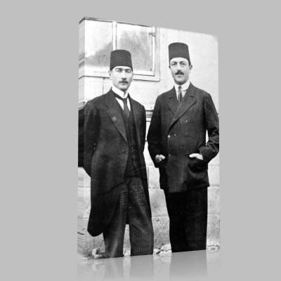 Siyah Beyaz Atatürk Resimleri  502 Kanvas Tablo