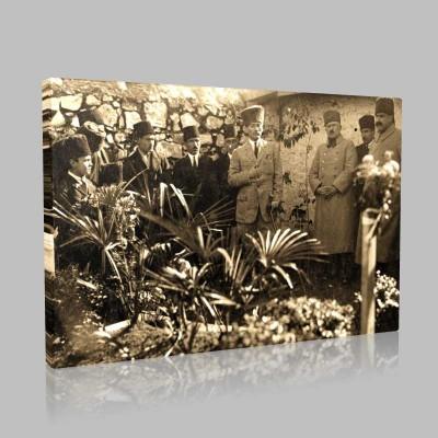Siyah Beyaz Atatürk Resimleri  505 Kanvas Tablo
