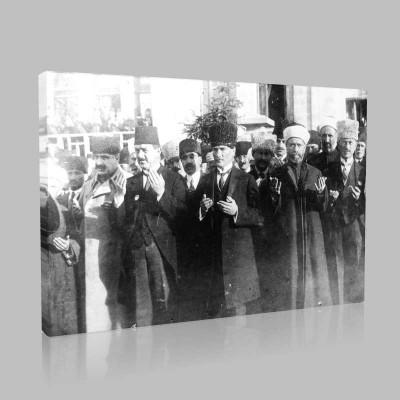 Siyah Beyaz Atatürk Resimleri  509 Kanvas Tablo