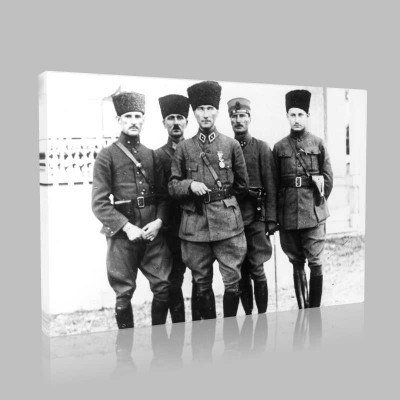 Siyah Beyaz Atatürk Resimleri  515 Kanvas Tablo