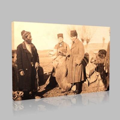 Siyah Beyaz Atatürk Resimleri  517 Kanvas Tablo