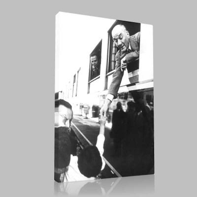 Siyah Beyaz Atatürk Resimleri  523 Kanvas Tablo