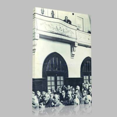 Siyah Beyaz Atatürk Resimleri  525 Kanvas Tablo