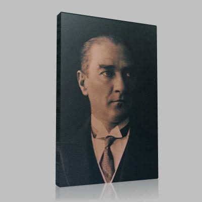 Siyah Beyaz Atatürk Resimleri  526 Kanvas Tablo