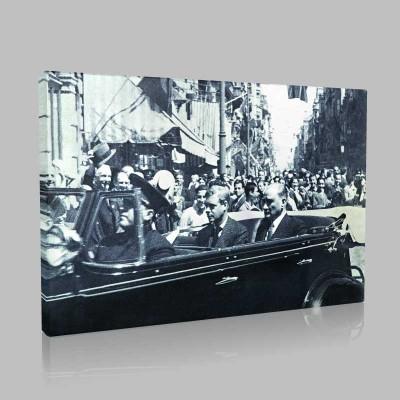 Siyah Beyaz Atatürk Resimleri  528 Kanvas Tablo