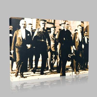 Siyah Beyaz Atatürk Resimleri  53 Kanvas Tablo