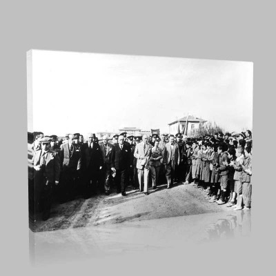 Siyah Beyaz Atatürk Resimleri  532 Kanvas Tablo