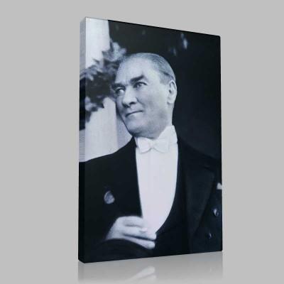 Siyah Beyaz Atatürk Resimleri  534 Kanvas Tablo