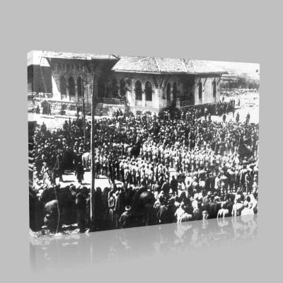 Siyah Beyaz Atatürk Resimleri  537 Kanvas Tablo