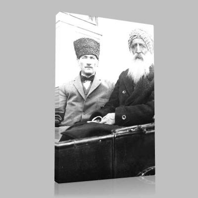 Siyah Beyaz Atatürk Resimleri  538 Kanvas Tablo